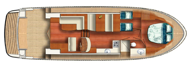 Layout dello yacht.